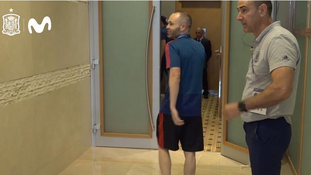 Mundial Rusia 2018: Así llegaron los jugadores de España a la charla técnica previa al partido