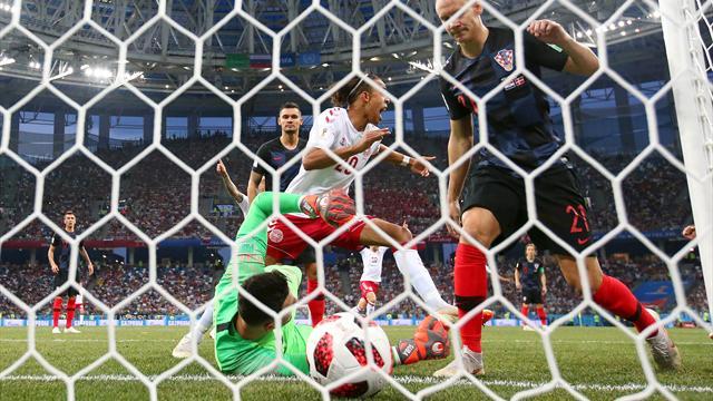 Une boulette de Subasic, un but billard : Croatie-Danemark a débuté par 5 minutes folles