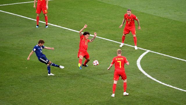 En 4 minutes, le Japon avait mis K.-O. la Belgique avec deux buts splendides