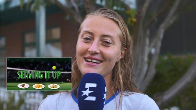 Péché-mignon, Burek, carburant : dans l'assiette de Kristina Mladenovic
