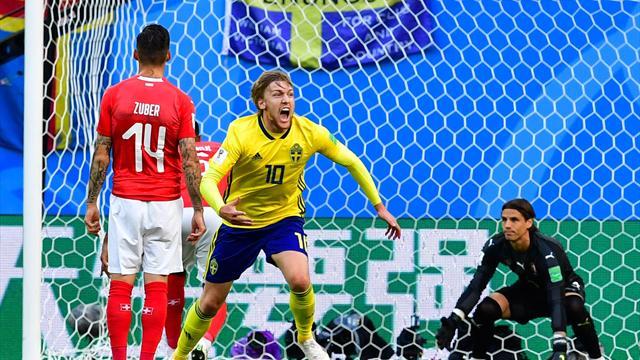 Forsberg fa volare ancora la Svezia! Svizzera battuta e quarti conquistati