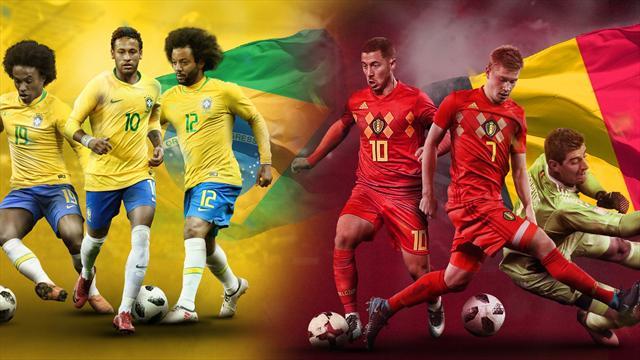 Mundial Rusia 2018: La previa en 60 segundos del Brasil-Bélgica (20:00)