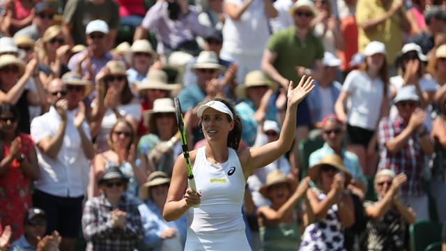 Konta battles to victory over Vikhlyantseva, sets up Cibulkova clash