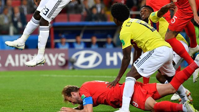 Après une faute incontestable de Sanchez, Kane a inscrit sur penalty son 6e but