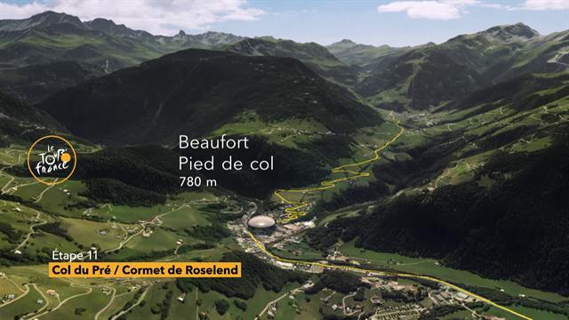 Le salite del Tour de France: tappa 11, la planimetria grafica in 3D del Col du Pré