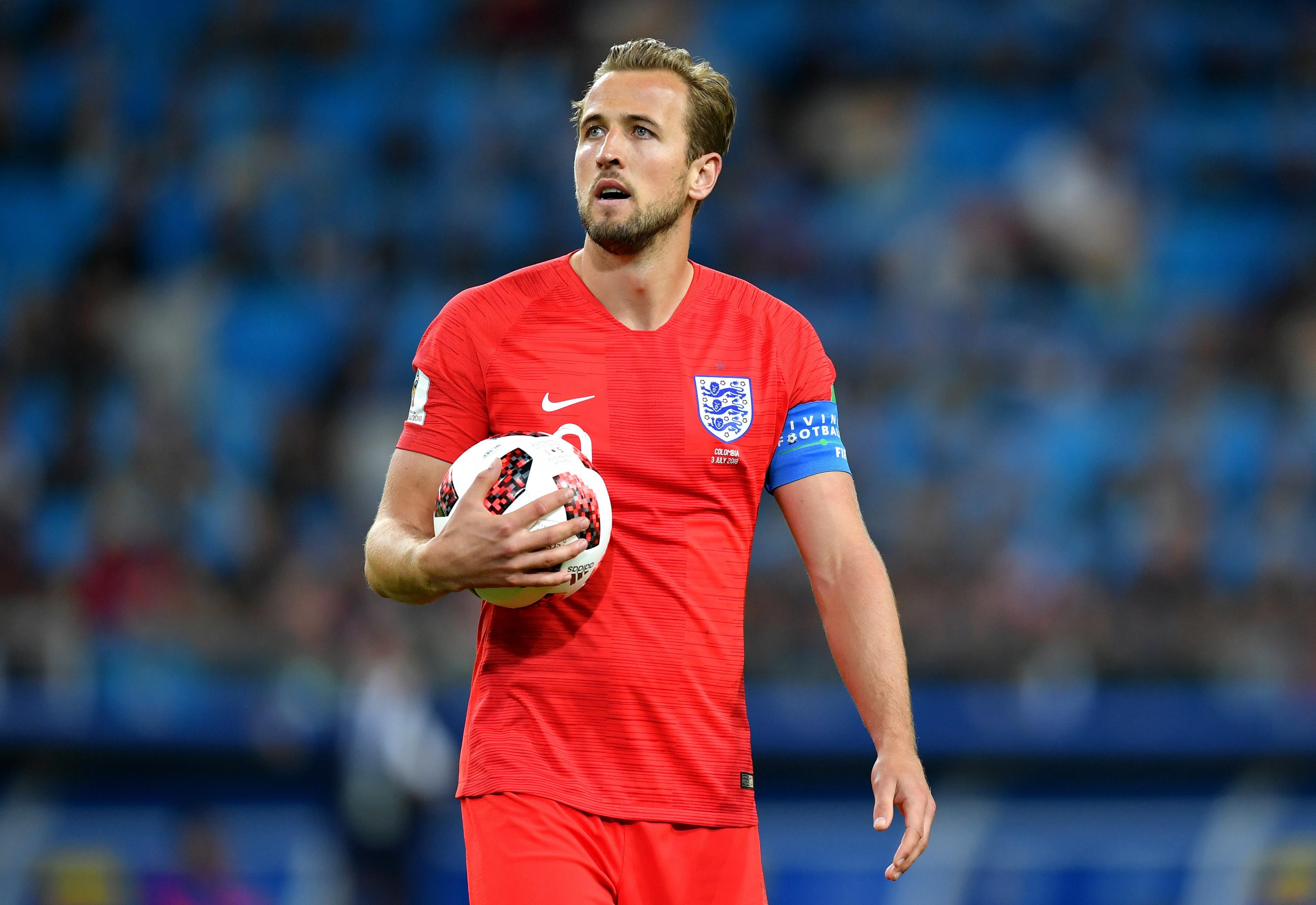 Harry Kane lors de Colombie - Angleterre / Coupe du monde 2018