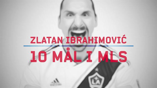 Se Zlatans 10 första fullträffar i MLS