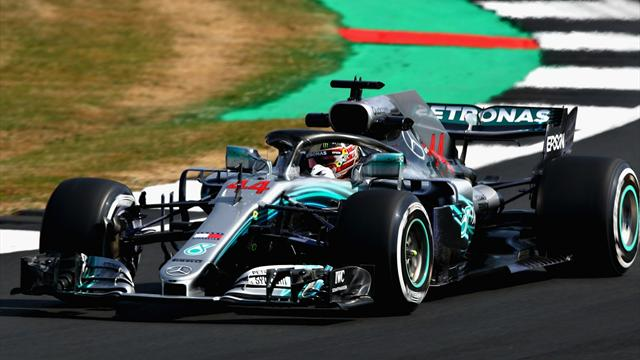 Hamilton fastest in first practice at Silverstone