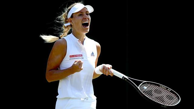 Ostapenko - Kerber: Hier seht Ihr die Highlights des Wimbledon-Halbfinales