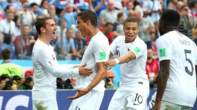 Varane und Torwartpatzer: Frankreich zieht über Uruguay ins Halbfinale ein
