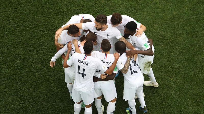 L'équipe de France face à l'Uruguay