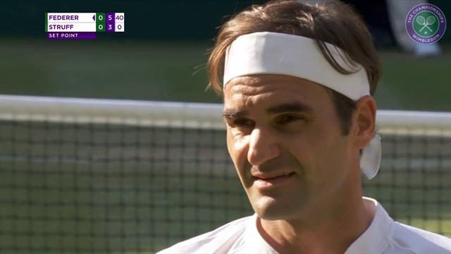 Höjdpunkter: Federer vidare - slog tysken i tre raka set