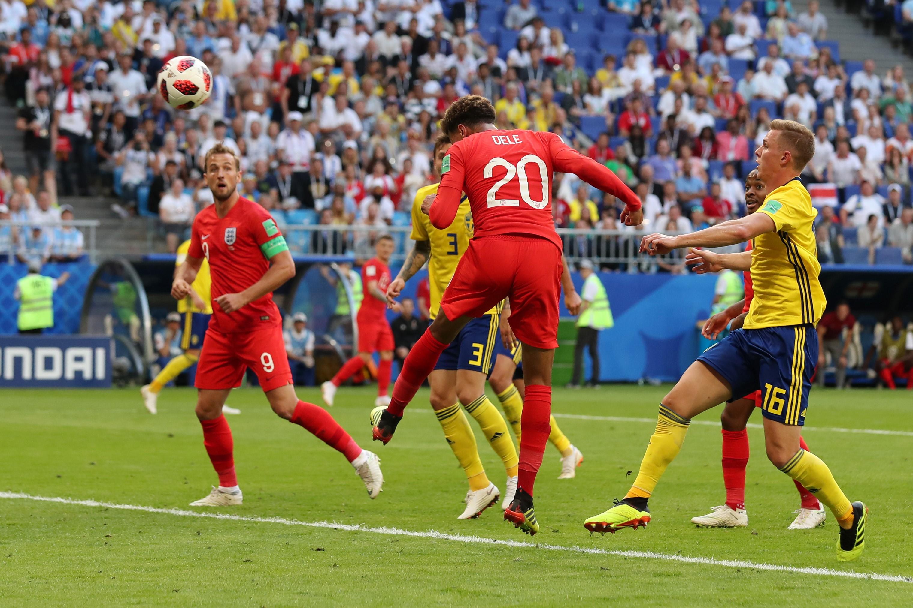 Dele Alli (Angleterre), buteur face à la Suède, Coupe du monde 2018