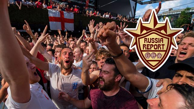 Russia Report: England fans go wild after reaching World Cup semi-finals