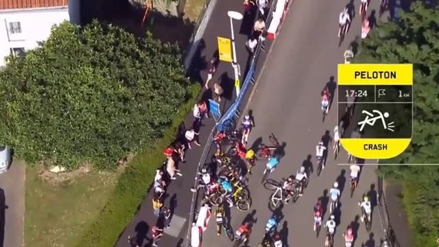 Tour de Francia 2018: La montonera final que generó el caos absoluto en el final de la etapa