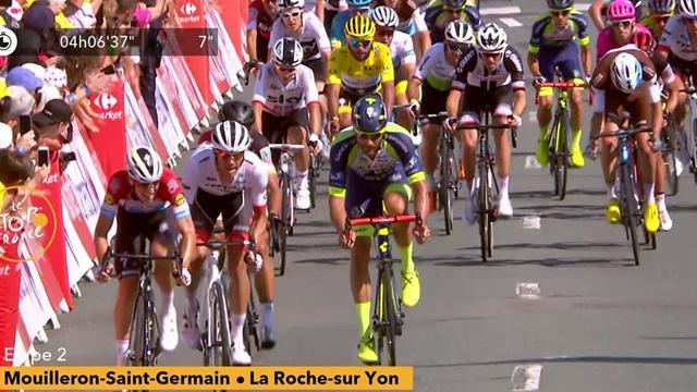 Tour de Francia 2018: Peter Sagan, agónico esprint para ganar la segunda etapa y ser nuevo líder