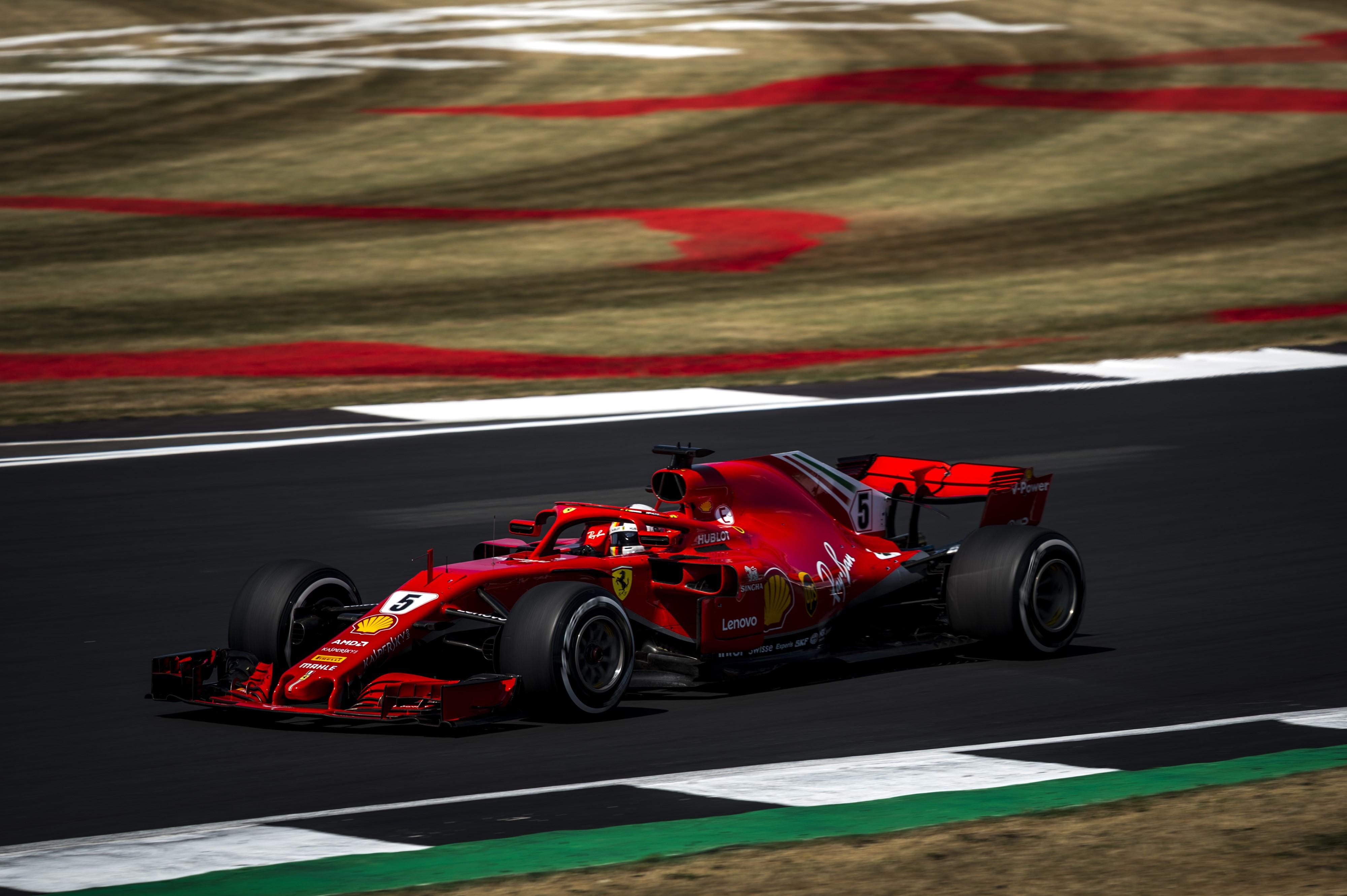 Sebastian Vettel (Ferrari) au Grand Prix de Grande-Bretagne 2018