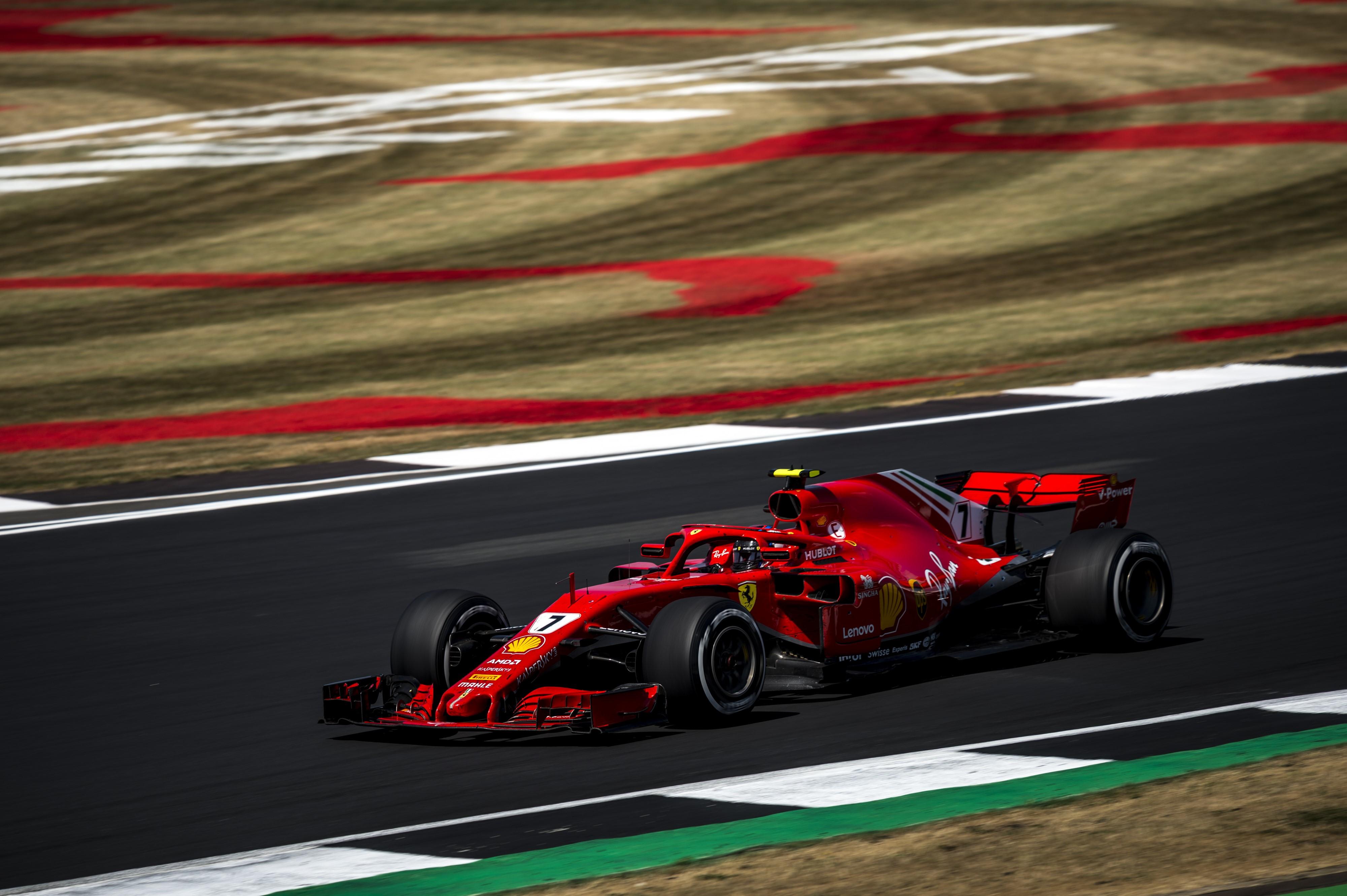 Kimi Räikkönen (Ferrari) au Grand Prix de Grande-Bretagne 2018