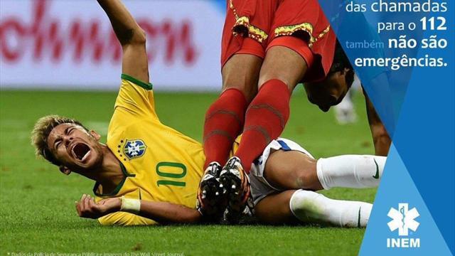 Звезда бразильского футбола Неймар стал символом симуляции вПортугалии