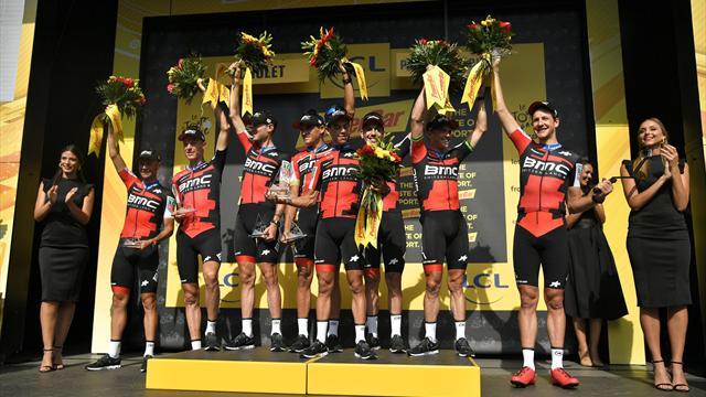 Велогонщики BMC выиграли командную гонку с раздельным стартом