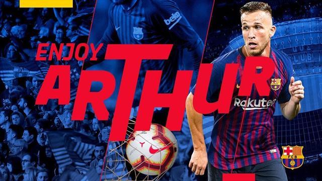 Le Barça officialise l'arrivée d'Arthur