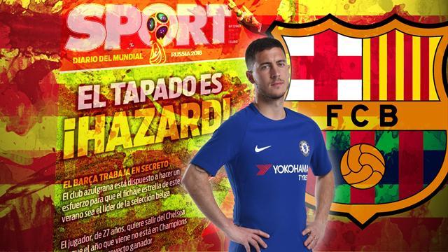 Euro Papers: Barcelona launch shock Eden Hazard bid as Real Madrid prepare £150m offer