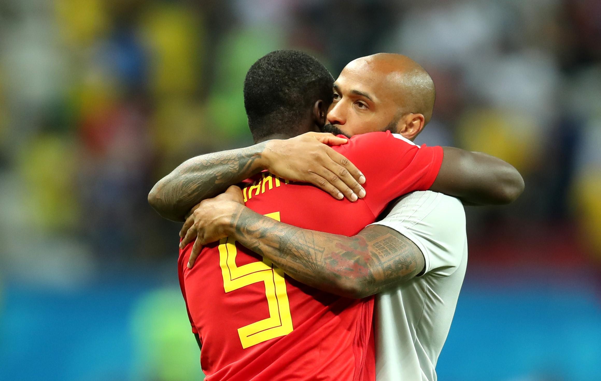 Romelu Lukaku et Thierry Henry