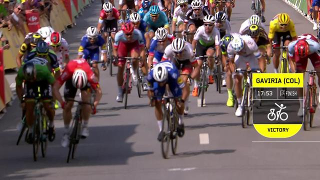 Key Moments of Stage 4 as Gaviria wins scintillating sprint finish