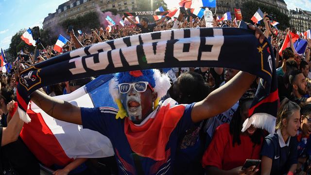L'ambiance de folie chez les supporters après la qualification en finale