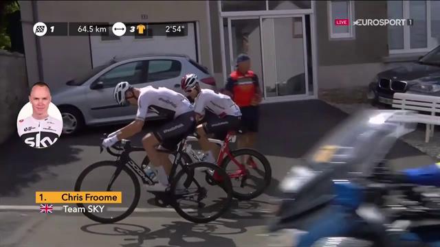 Problem och cykelbyte för Chris Froome