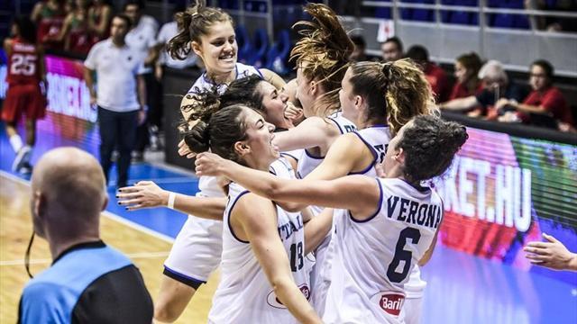 L'Italia femminile Under 20 è in semifinale all'Europeo di Sopron: Portogallo annientato 70-42