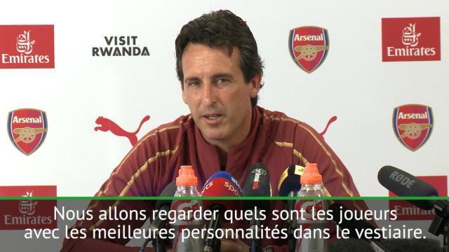 "Emery : ""Avoir cinq capitaines"""