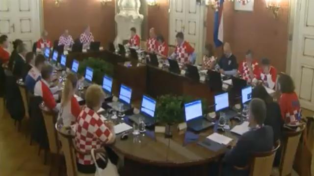 Vom WM-Fieber infiziert: Kroatische Regierung tagt in Trikots