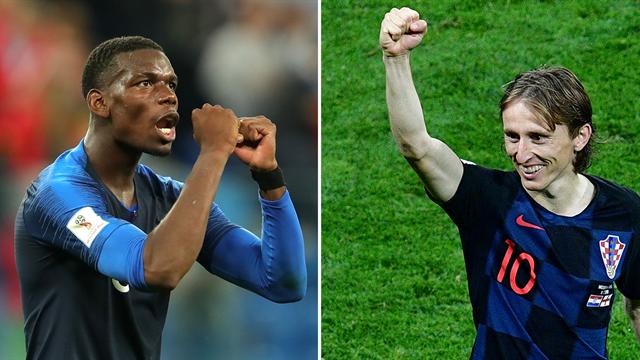 The BIG battle: Paul Pogba v Luka Modric