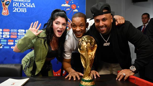 El show de Will Smith en la rueda de prensa por la ceremonia de clausura del Mundial