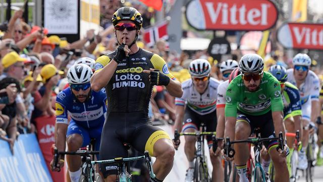 Tour de Francia 2018 (7ª etapa): Groenewegen silencia el duelo Gaviria-Sagan