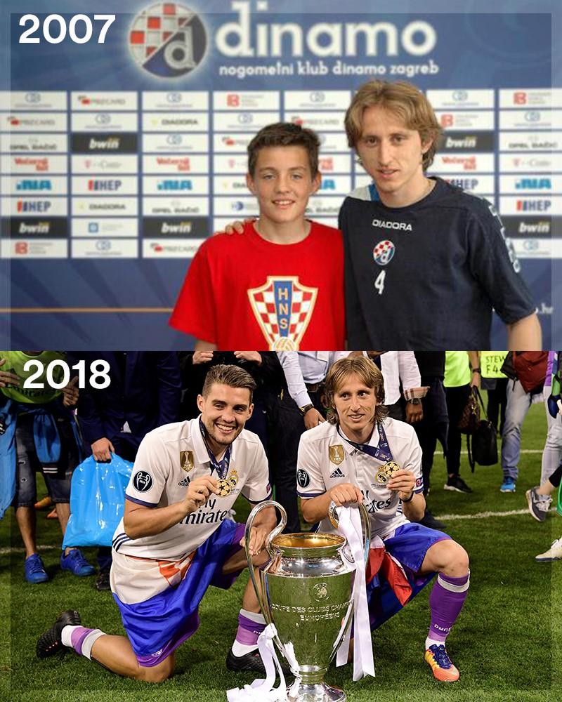 Mateo Kovacic e Luka Modric, dalla Dinamo Zagabria (2007) al Real Madrid (2018)