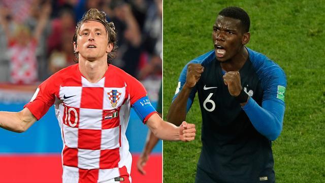 Das große WM-Duell: Pogba gegen Modrić