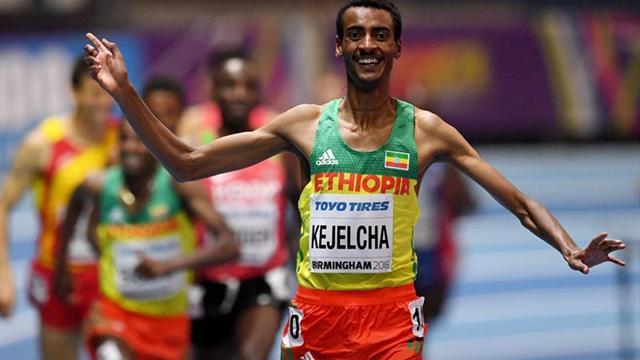 El etíope Kejelcha logra la mejor marca mundial del año en los 3.000 lisos