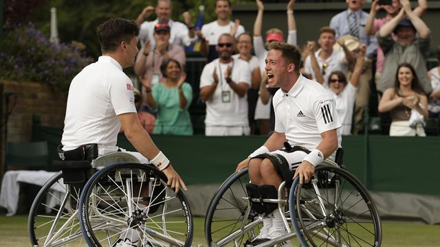 Home crowd give Reid and Hewett Wimbledon advantage