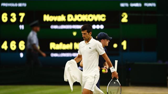 Avant le couvre-feu, Djokovic avait pris le dessus