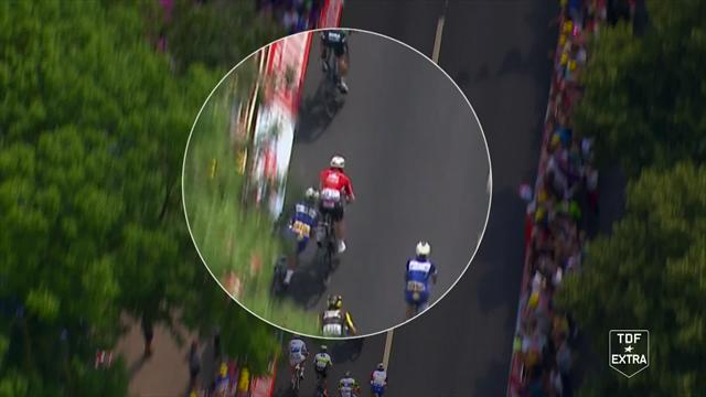 Gaviria and Greipel demoted to back of the peloton after dangerous sprint clash