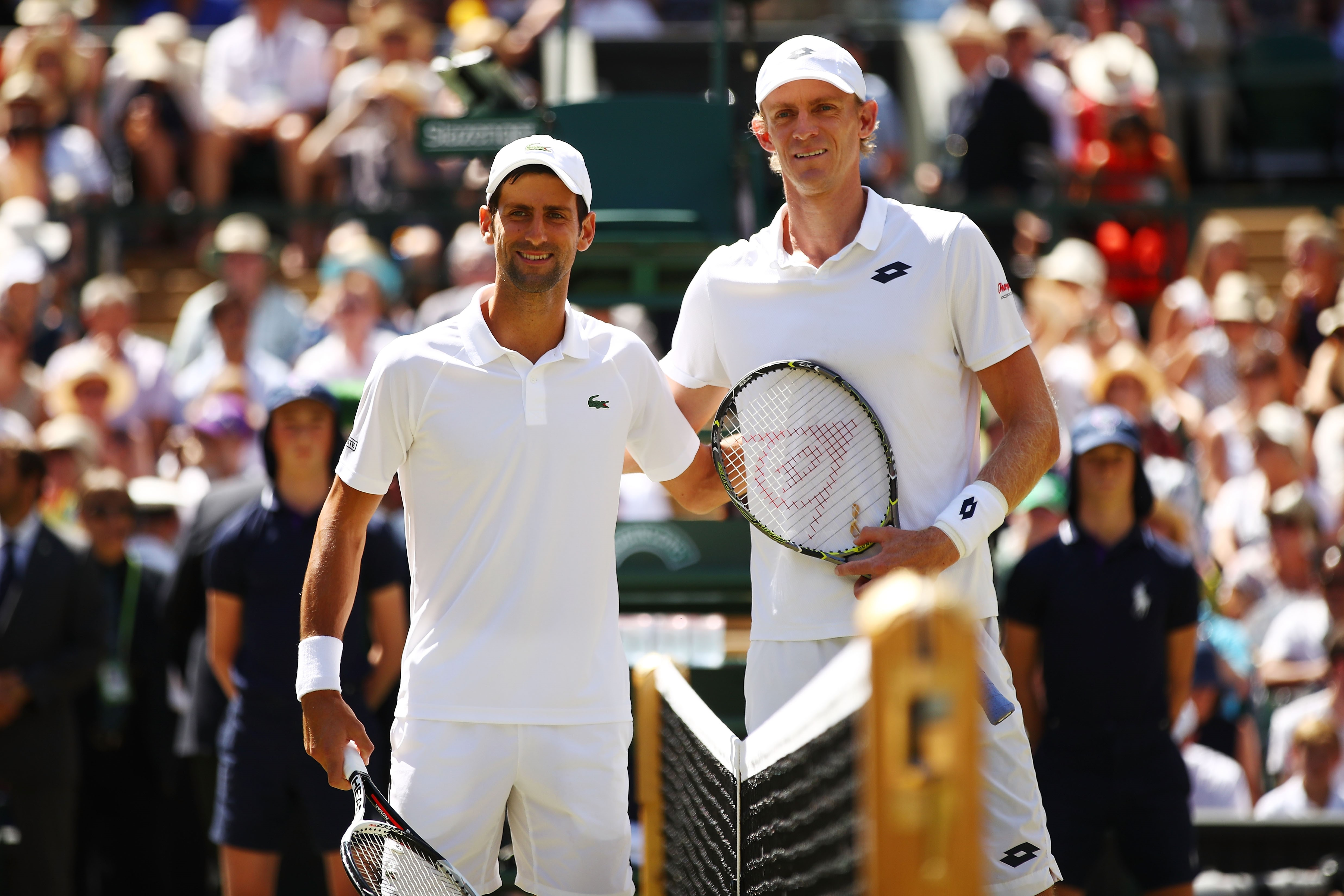 Novak Djokovic et Kevin Anderson à Wimbledon