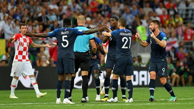 Huge VAR controversy as France score World Cup final penalty