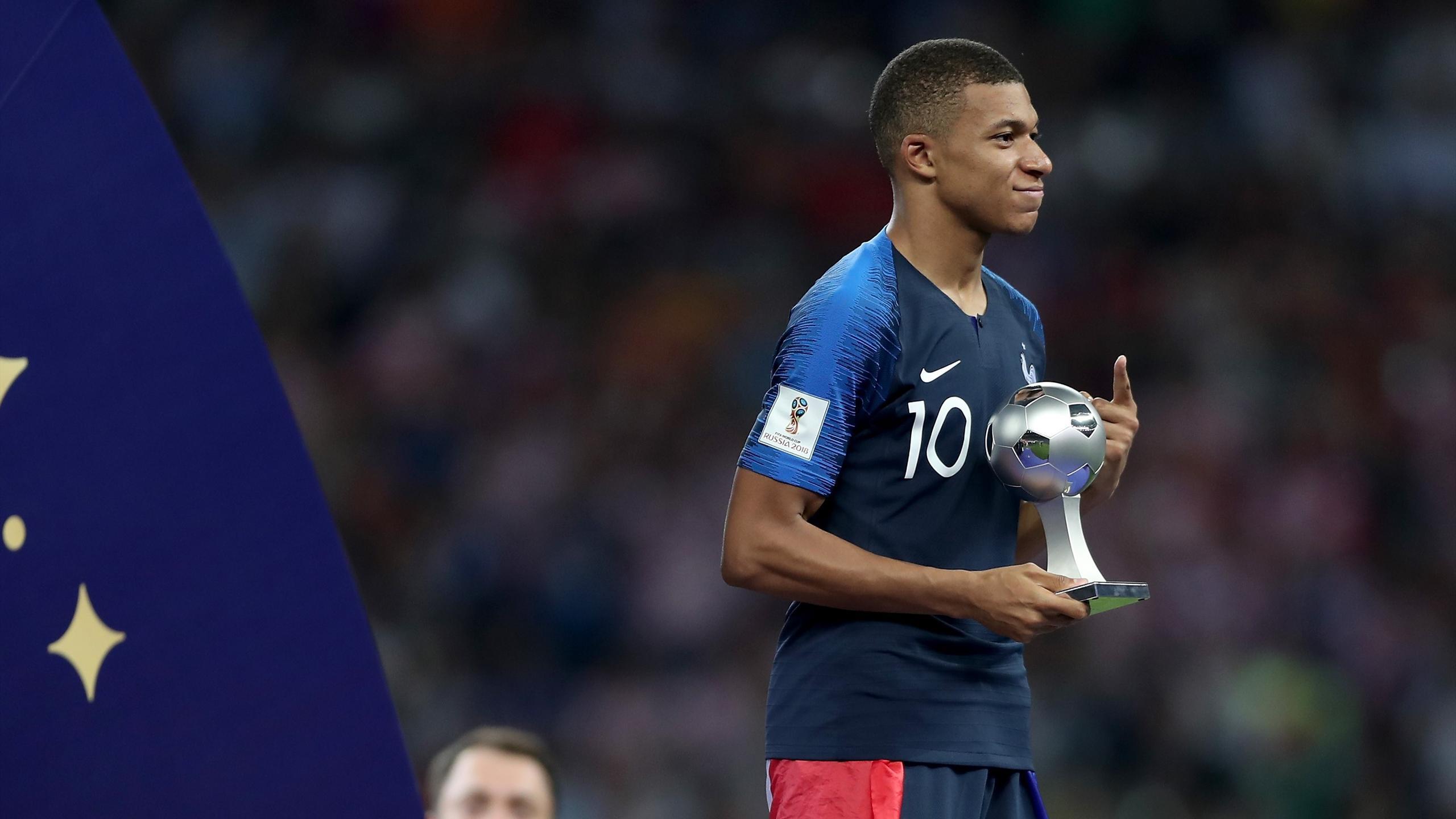 Kylian Mbappe Wins World Cup Young Player Award Eurosport