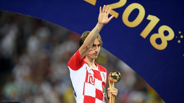 Luka Modric wins World Cup Golden Ball