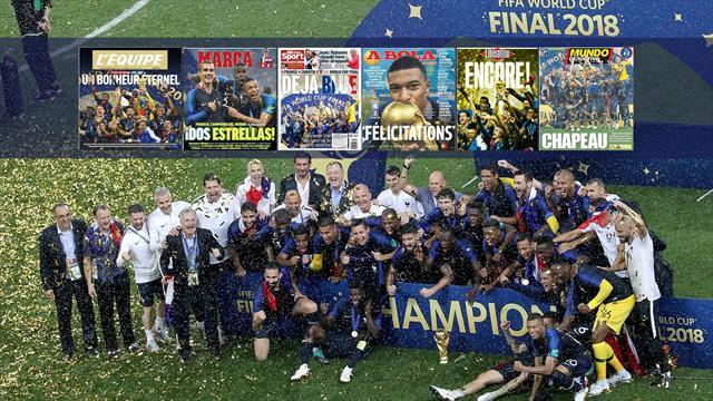 De 'Deja Blue' a la 'Francia mestiza', las portadas tras el triunfo de Francia en el Mundial