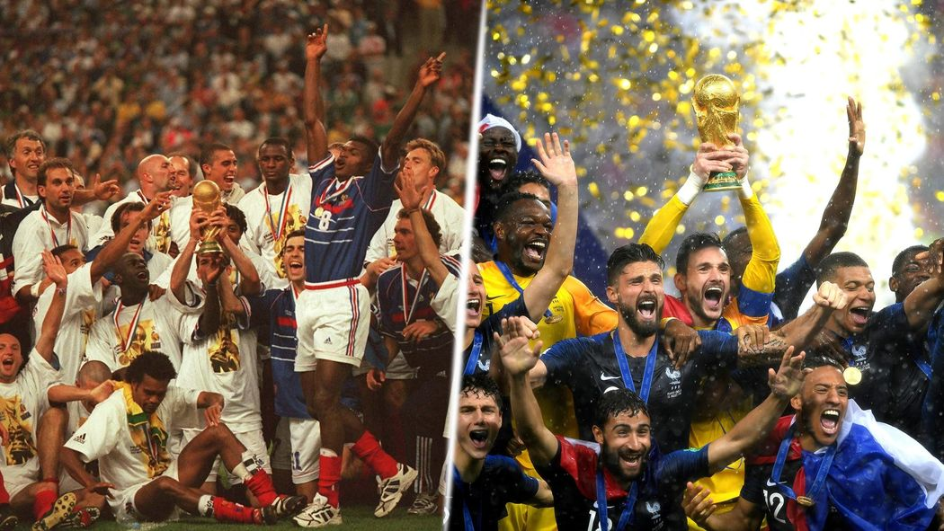 Image result for champion du monde 1998 et 2018