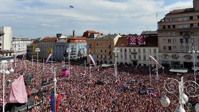 Chez eux aussi, les Croates ont été accueillis comme des héros