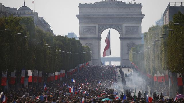 France hails their World Cup heroes as 500,000 fans line the Champs-Elysees